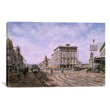 'Los Angeles: Looking South from Main and Spring' by Stanton Manolakas Painting Print on Canvas