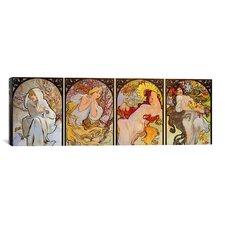 'Les Saisons' by Alphonse Mucha Graphic Art on Canvas