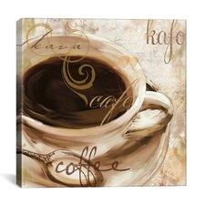"""Color Bakery """"Le Cafe"""" Painting Print on Canvas"""