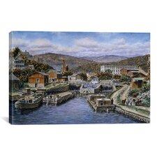 'Little Falls New York, California 1905' by Stanton Manolakas Painting Print on Canvas
