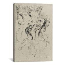 'Le Chapeau Epingle (La Fille de Berthe Morisot et Sa Cousin)' by Pierre-Auguste Renoir Graphic Art on Canvas