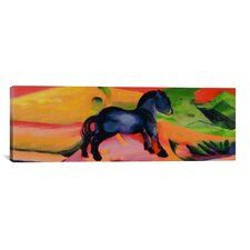 'Little Blue Horse' by Franz Marc Painting Print on Canvas