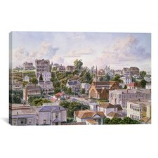 'Los Angeles, Bunker Hill from Congretional Church California 1898' by Stanton Manolakas Painting Print on Canvas
