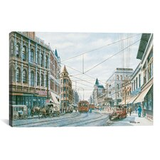 'Looking South of Spring St' by Stanton Manolakas Painting Print on Canvas