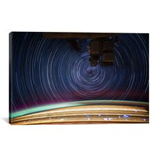 Astronomy and Space ''Long Exposure Star Photograph from Space V'' Graphic Art on Wrapped Canvas
