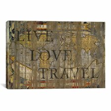 'Live Love Travel' by Maximilian San Graphic Art on Canvas