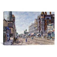 'Los Angeles, 2nd and Broadway' by Stanton Manolakas Painting Print on Canvas