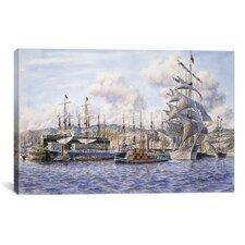 'Long Wharf, Santa Monica' by Stanton Manolakas Painting Print on Canvas