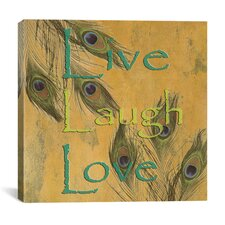 """""""Live, Lough and Love"""" Canvas Wall Art by Marcus Jules"""