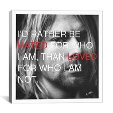 Kurt Cobain Quote Canvas Wall Art