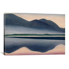 Scenic Lake at Dawn Painting Print on Canvas