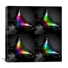 Rainbow Colored Butterfly Photographic Canvas Wall Art
