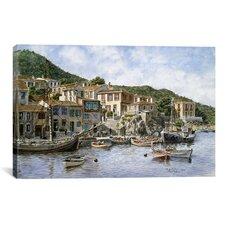'Kokkari Samos, Greece, Fisherman's Corner' by Stanton Manolakas Painting Print on Canvas