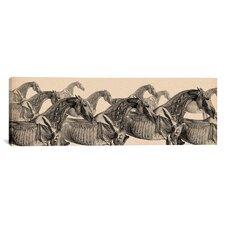 Animal Art 'Race Horse Anatomy Collage' Painting Print on Canvas
