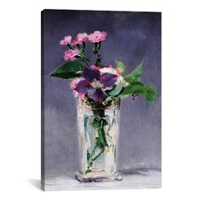 """Ragged Robins and Clematis"" by Edouard Manet Painting Print on Wrapped Canvas"