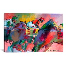 'Race 2' by Richard Wallich Painting Print on Canvas