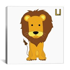 Kids Art L is for Lion Graphic Canvas Wall Art