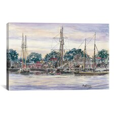 'Providence Town' by Stanton Manolakas Painting Print on Canvas