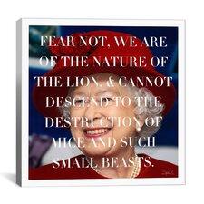 Queen Elizabeth Quote Canvas Wall Art