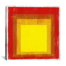Modern Squares Graphic Art on Canvas
