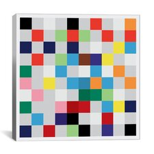 """Modern """"Pixilated Tile Colorful Square Pattern"""" Graphic Art on Canvas"""