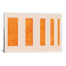 Modern Art Orange Levies Painting Print on Canvas