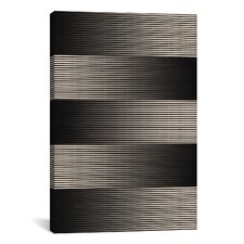 Modern Grayscale Graphic Art on Wrapped Canvas