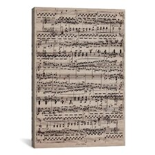 Modern Sheet Music Ode to Joy Textual Art on Canvas