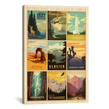 'National Park' by Anderson Design Group Vintage Advertisement on Canvas
