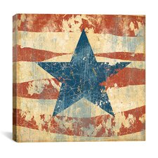 'Old Glory I' by John Zaccheo Graphic Art on Canvas