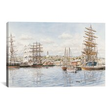 'Nantucket, California 1865' by Stanton Manolakas Painting Print on Canvas