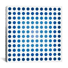 """Faded Navy Dots"" Modern Art Graphic Art on Canvas"