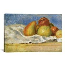 'Nature Morte Aux Pommes Et Poires 1890' by Pierre-Auguste Renoir Painting Print on Canvas