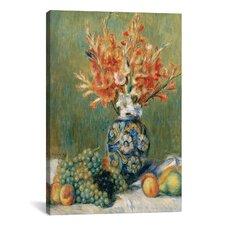 'Nature Morte, Fleurs Et Fruits 1889' by Pierre-Auguste Renoir Painting Print on Canvas