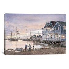 'Nantucket Sunset' by Stanton Manolakas Painting Print on Canvas