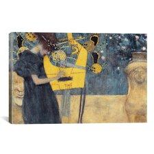 'Musik I 1895' by Gustav Klimt Painting Print on Canvas