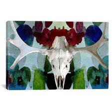 Canada Moose Skull 3 Graphic Art on Canvas