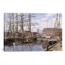 'New York City, Pier 28 California 1876' by Stanton Manolakas Painting Print on Canvas