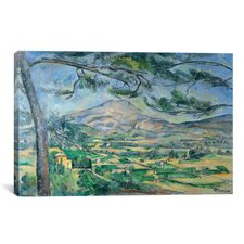 'Mont Sainte-Victoire with Large Pine-Tree 1887' by Paul Cezanne Painting Print on Canvas