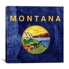 Flags Montana Lewis and Clark Caverns Graphic Art on Canvas