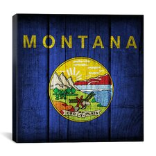 Flags Montana Planks Graphic Art on Canvas