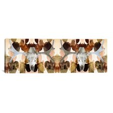 Canada Moose Skull #2 Panoramic Graphic Art on Canvas