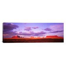 Panoramic Monument Valley, Arizona Photographic Print on Canvas