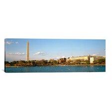 Panoramic Washington Monument, Potomac River, Washington, D.C Photographic Print on Canvas