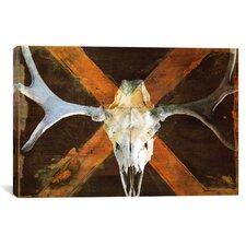 Canada Moose Skull Graphic Art on Canvas