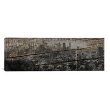 Montreal, Canada Panoramic Graphic Art on Canvas