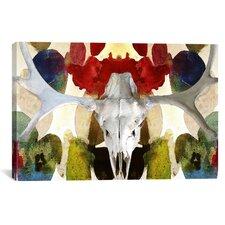 Canada Moose Skull 2 Graphic Art on Canvas