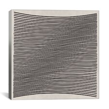 Modern Art Wavy Lines Graphic Art on Canvas