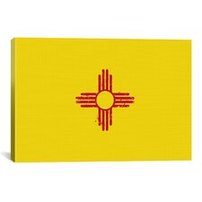 Flags New Mexico Graphic Art on Canvas