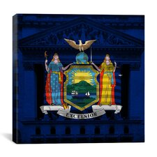 Flags New York Stock Exchange Graphic Art on Canvas
